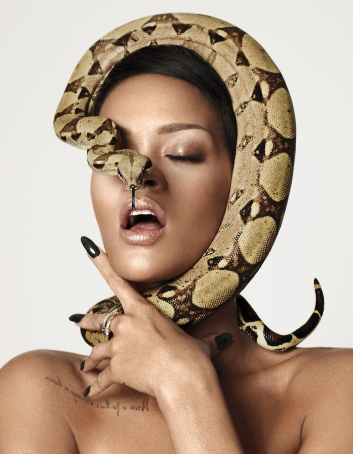 Rihanna as Naked Medusa for British GQ's 25th Anniversary Issue-03