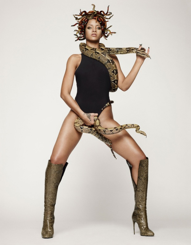 Rihanna as Naked Medusa for British GQ's 25th Anniversary Issue-04