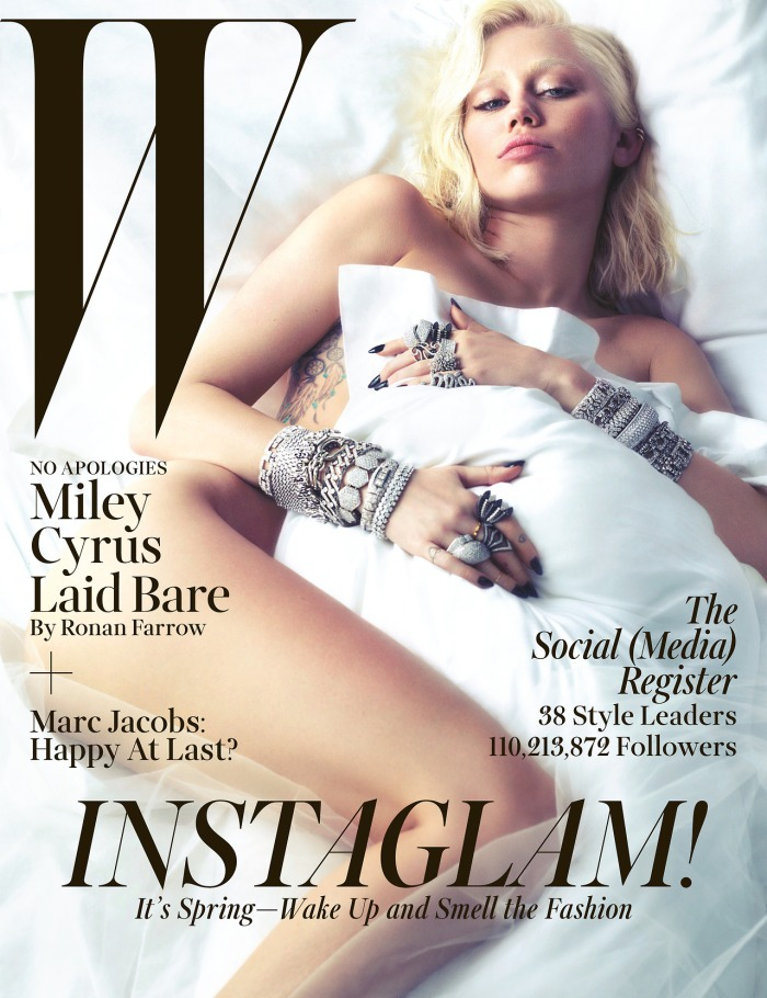 Miley Cyrus Goes Nude For W Magazine Cover