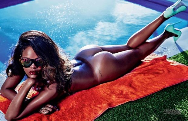 Rihanna Goes Naked for Lui Magazine 01