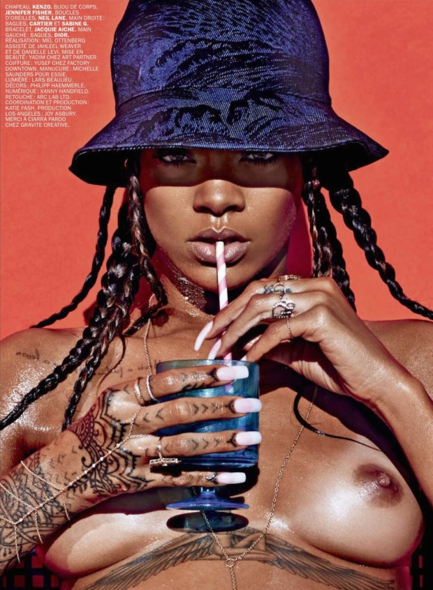Rihanna Goes Naked for Lui Magazine 05