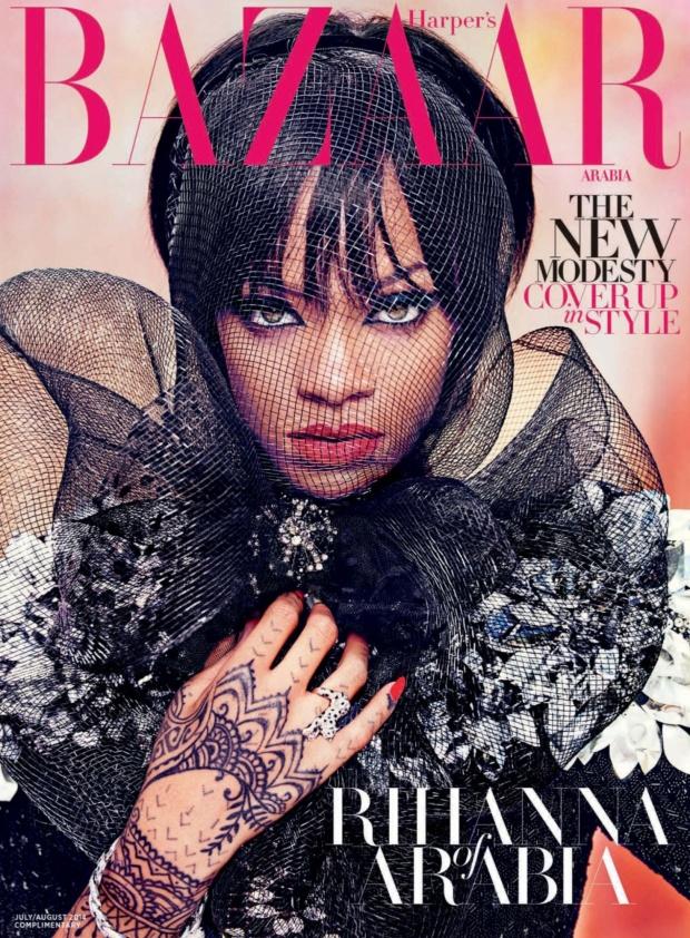 Rihanna Stuns in Harper's Bazaar Arabia Cover Shot