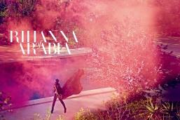Rihanna Stuns in Harper's Bazaar Arabia walking