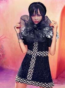 Rihanna Stuns in Harper's Bazaar Arabia in dress
