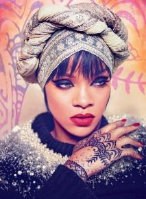 Rihanna Stuns in Harper's Bazaar Arabia showing her hand