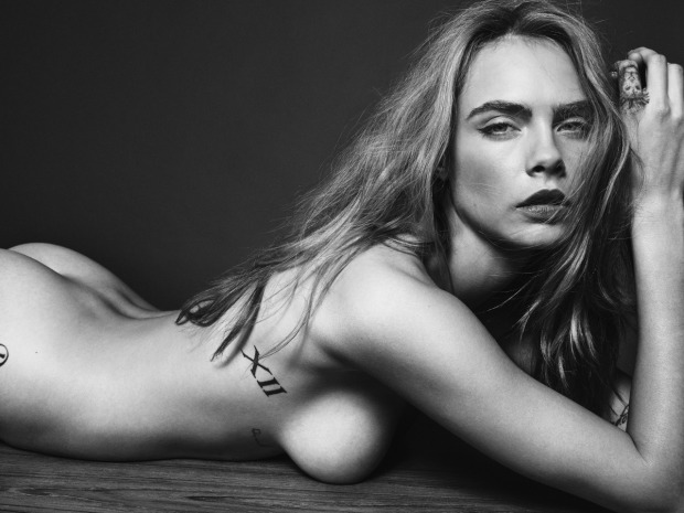 Cara Delevingne Goes Nude for Esquire UK 1
