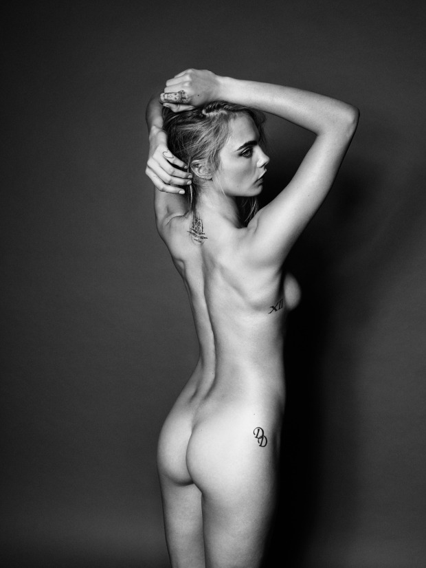 Cara Delevingne Goes Nude for Esquire UK 4